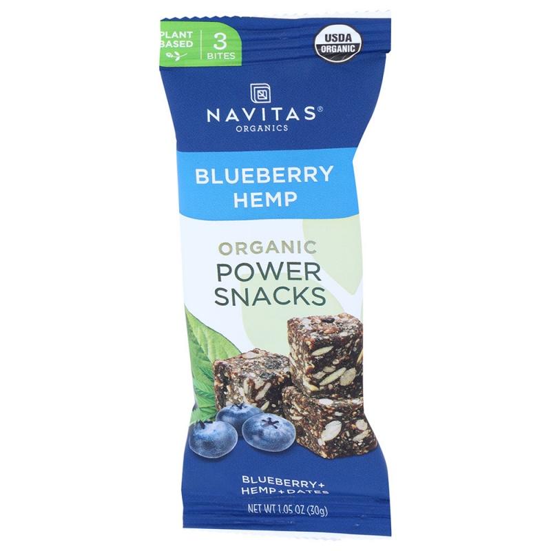 Navitas Organics Blueberry Hemp Power Snacks 12 (1.05 Oz.) Packs