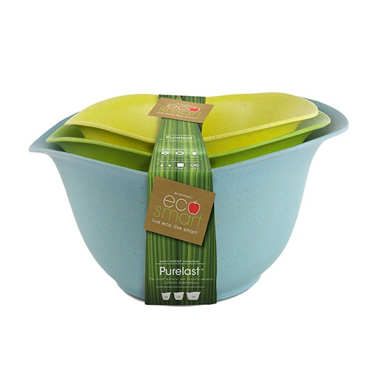 Eco Smart Purelast Mixing Bowls ( Blue, Green And Yellow)