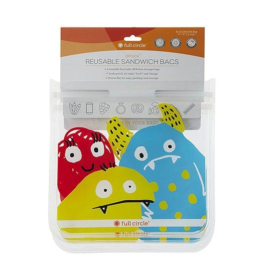 Full Circle Kids Reusable Ziptuck Sandwich Bag 8 X 8