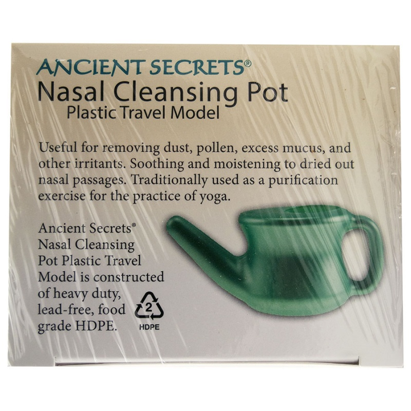 Ancient Secrets Plastic Travel Nasal Cleaning Pot