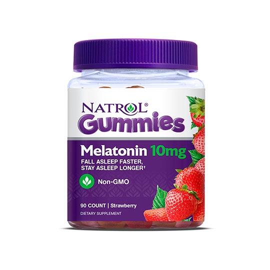 Natrol Strawberry Melatonin 10 Mg 90 Gummies