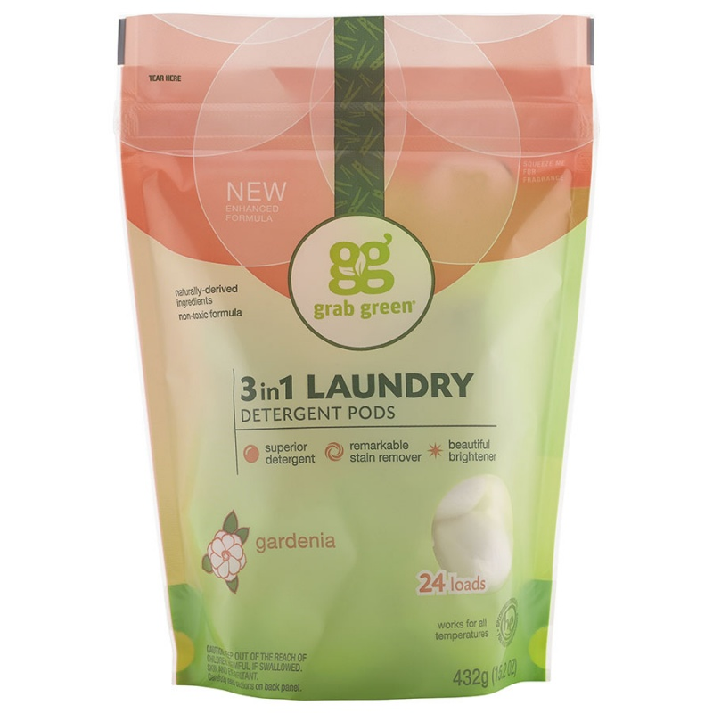 Grab Green Gardenia 3-in-1 Laundry Detergent Pods 24 Loads