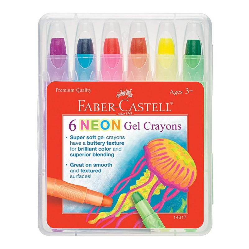 Faber Castell Neon Gel Crayons 6 Count ( Ages 3+)