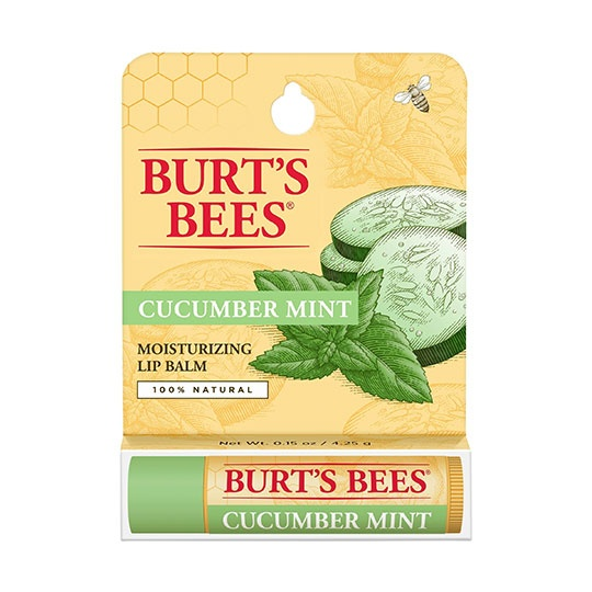 Burt's Bees Cucumber Mint Lip Balm Blister Box 0.15 Oz. Blister Box