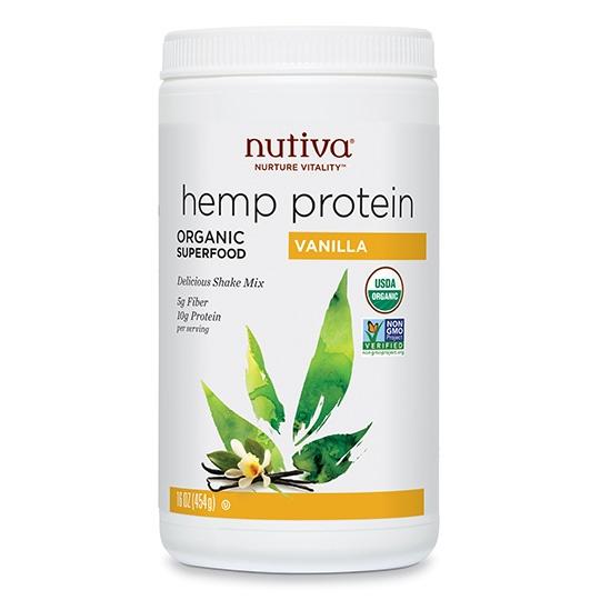 Nutiva Organic Vanilla Hemp Protein Powder 16 Oz.