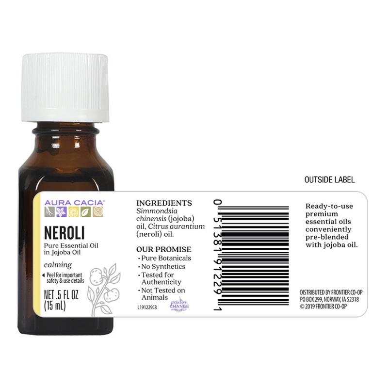 Aura Cacia Neroli (In Jojoba Oil) 0.5 Fl. Oz