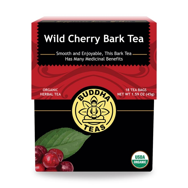 Buddha Teas Organic Wild Cherry Bark 18 Tea Bags