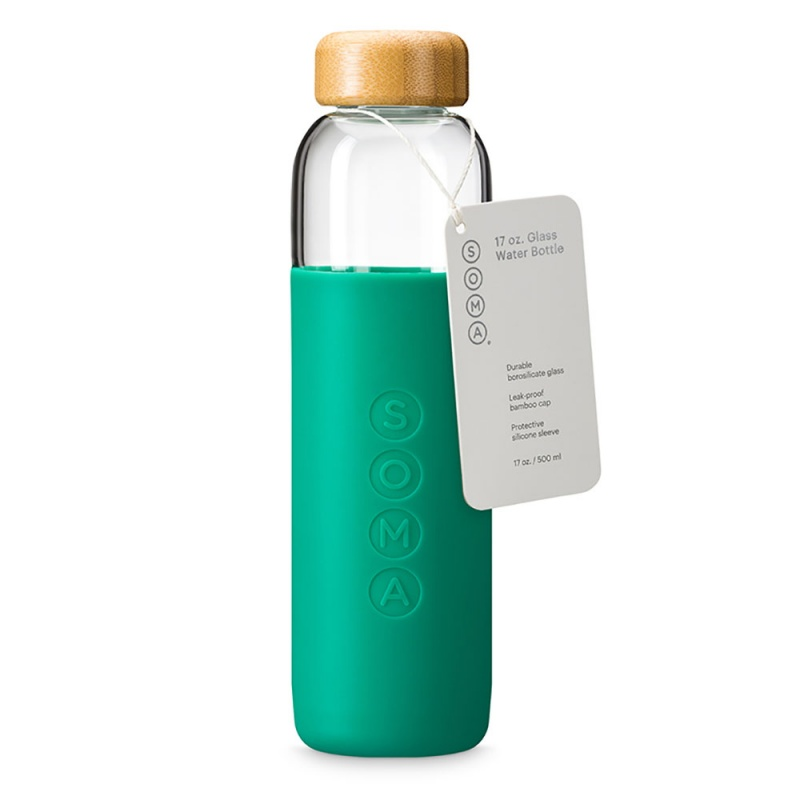 S O M A Emerald Glass Water Bottle 17 Oz