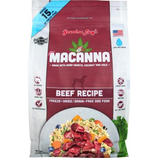 Grandma Lucy's Beef Mancanna Freeze- Dried Beef Dog Food 3 Lb