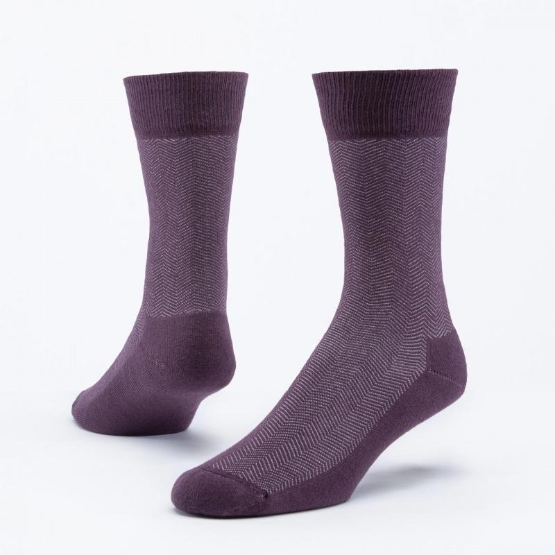 Maggie's Functional Organics 9-11 Eggplant Cotton Dress Socks