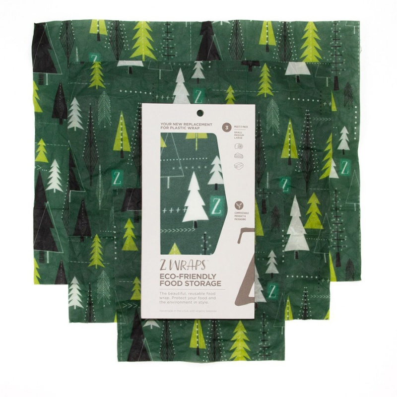 Z Wraps 3- Pack Beeswax Wrap, Winter Trees Print