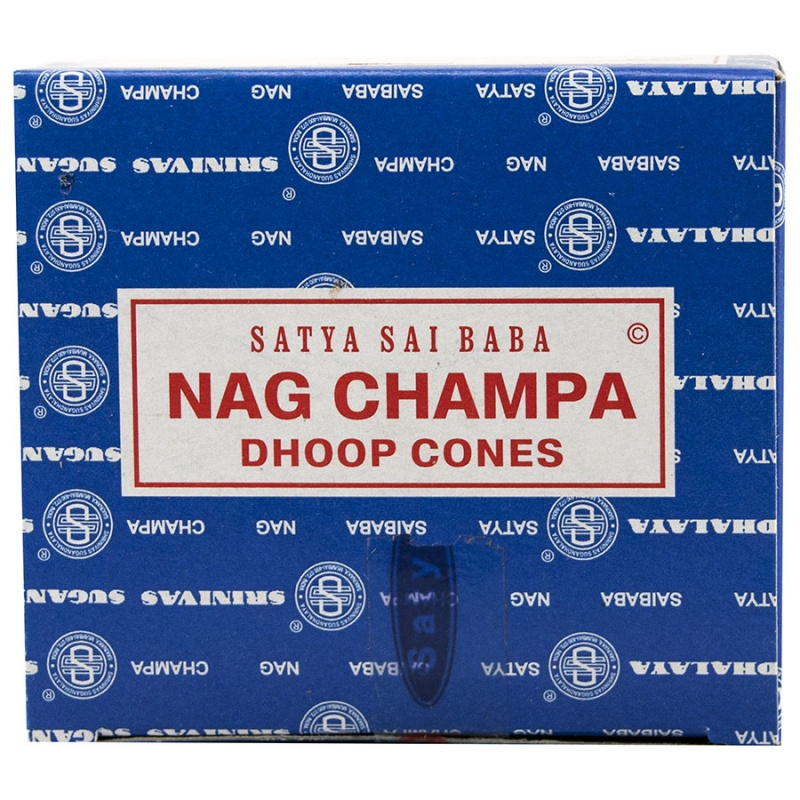 Sai Baba Nag Champa Incense Cones 12 Cones