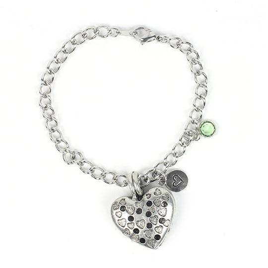 Heart Diffuser Bracelet 7.5 Chain