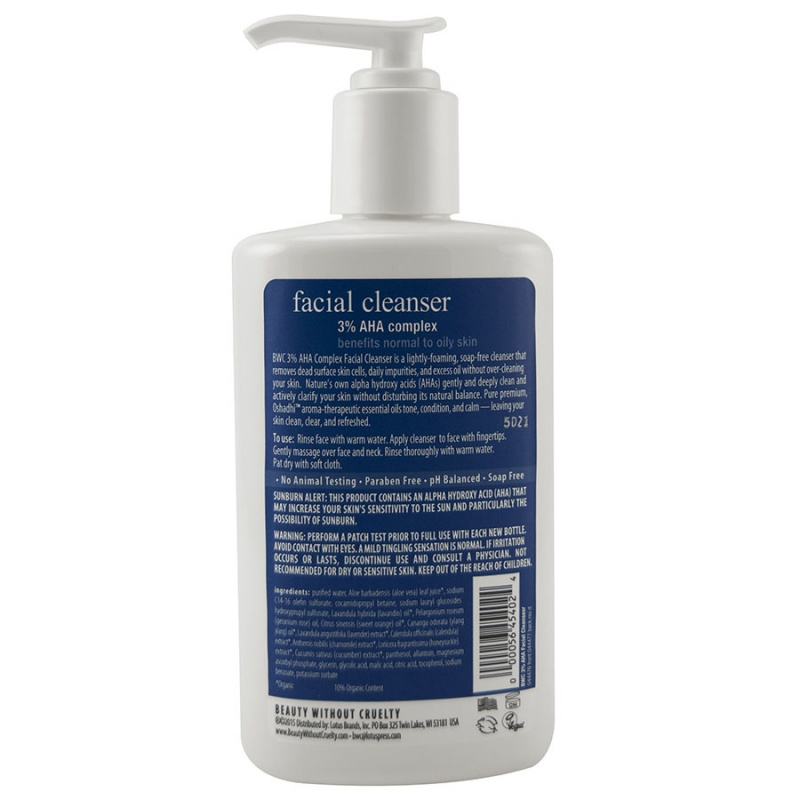 Beauty Without Cruelty 3% Aha Facial Cleanser 8.5 Fl. Oz.