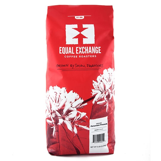 Equal Exchange Organic Coffee Peru French Roast Whole Bean Coffee 5 Lb.