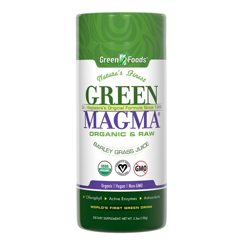 Green Foods Organic Raw Green Magma Barley Grass Juice Powder 5.3 Oz.