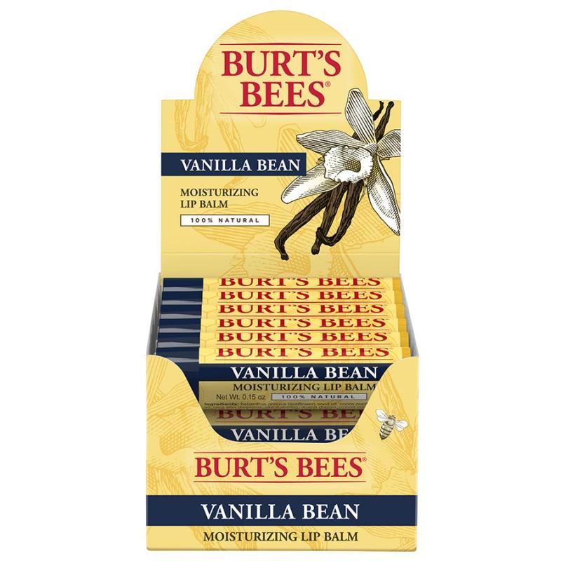 Burt's Bees Vanilla Bean Lip Balm Tube Refill Pack 12 (0.15 Oz.) Tubes