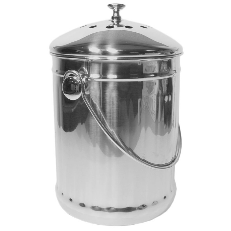 Stainless Steel Compost Pail 1 Gallon