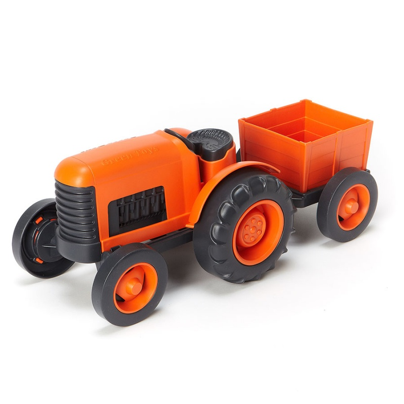 Green Toys Orange Tractor For 1+ Years