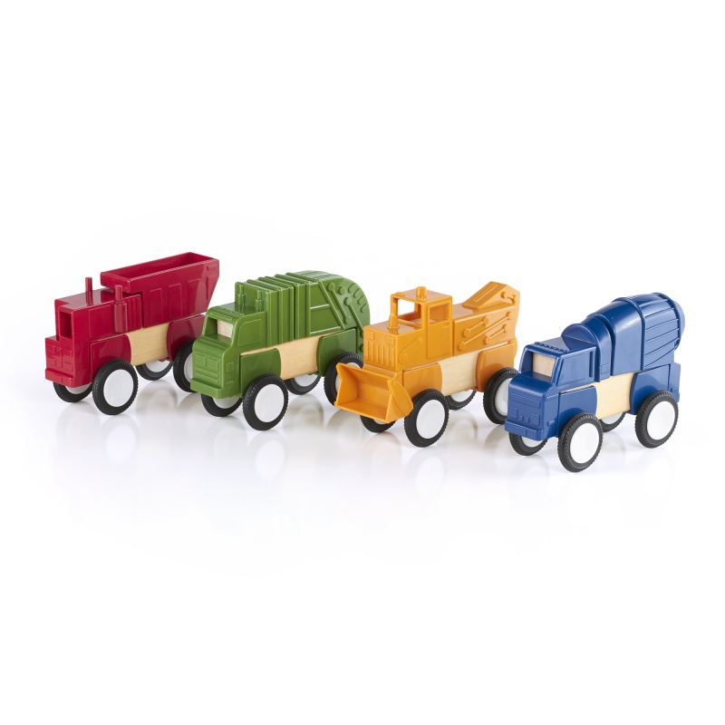 Guidecraft Block Mates Construction Vehicles