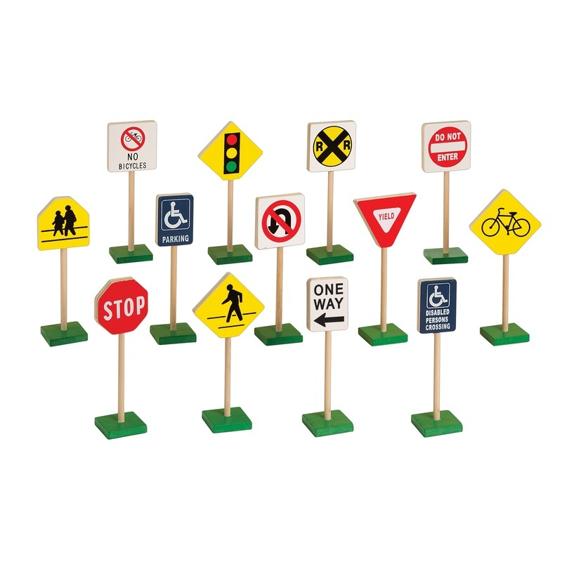 "7"" Block Play Traffic Signs"
