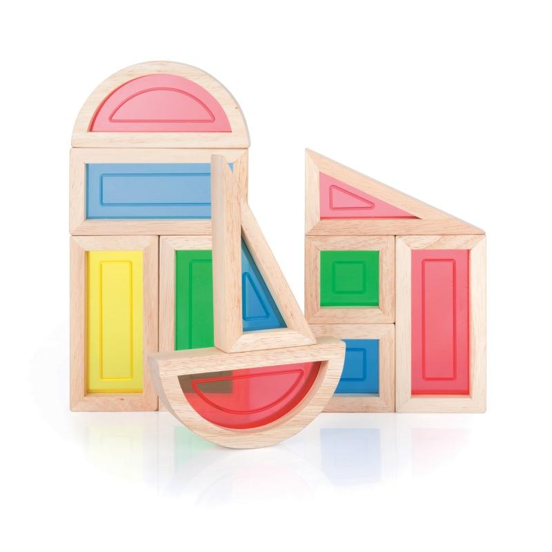 Guidecraft Rainbow Blocks 10 Pc Set