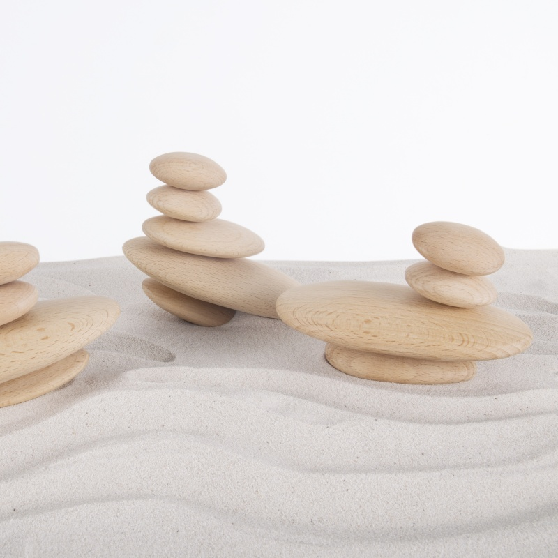 Guidecraft Wood Stackers – River Stones
