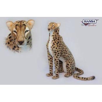 "Cheetah Lf Sz Seated Jacqrd 44""h"