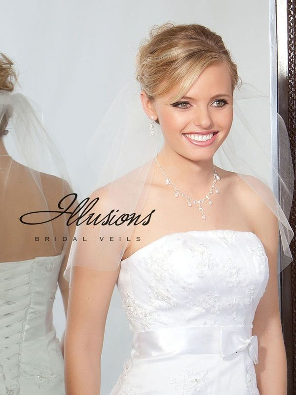 Illusions Bridal Cut Edge Veil 7-201-CT