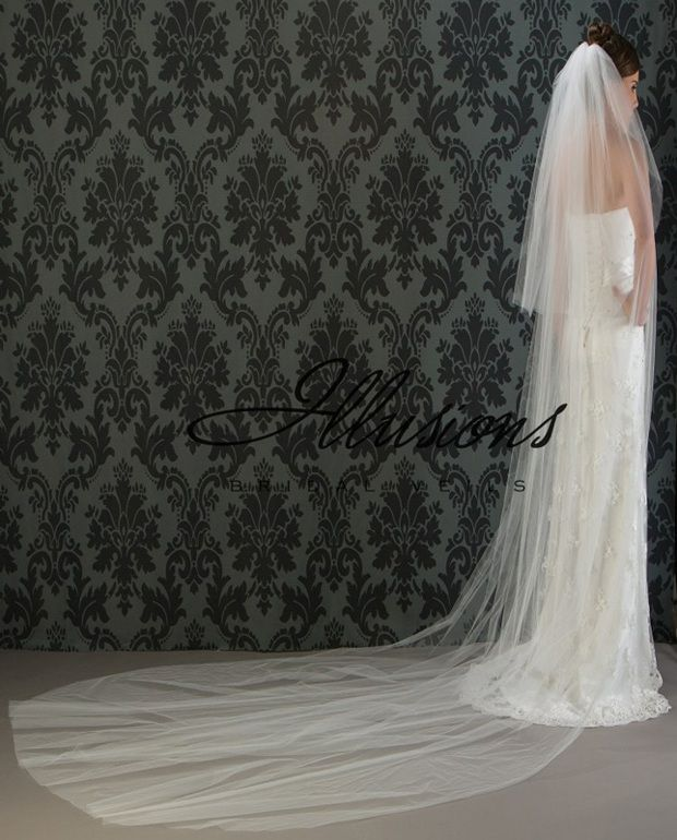 Illusions Bridal Cut Edge Veil S1-1442-CT