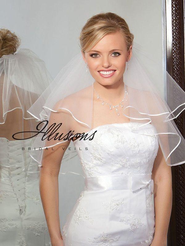 Illusions Bridal Ribbon Edge Veil C7-202-1R