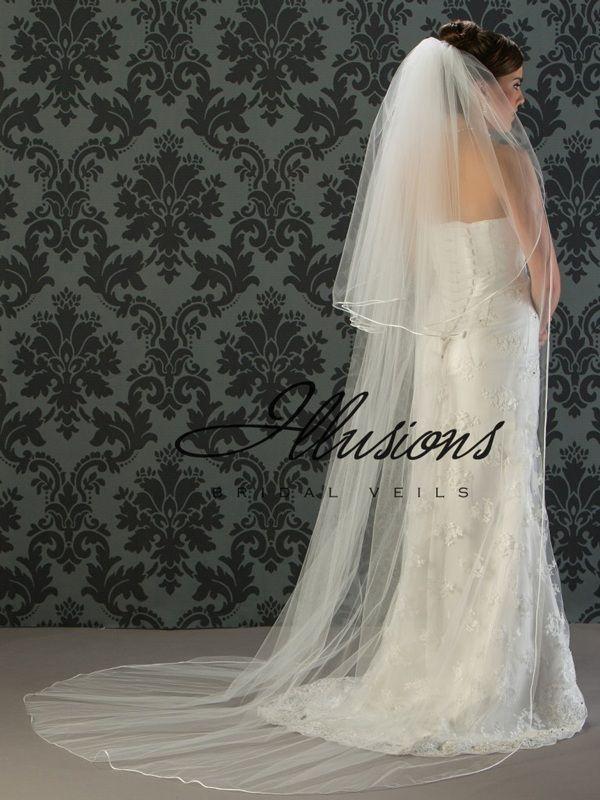 Illusions Bridal Rattail Edge Veil S1-902-RT