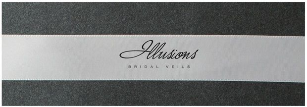 Illusions Bridal Ribbon Edge Veil S1-452-7R: Pearl Accent