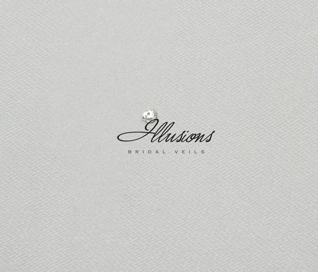 Illusions Bridal Corded Edge Veil C5-452-C: Rhinestone Accent