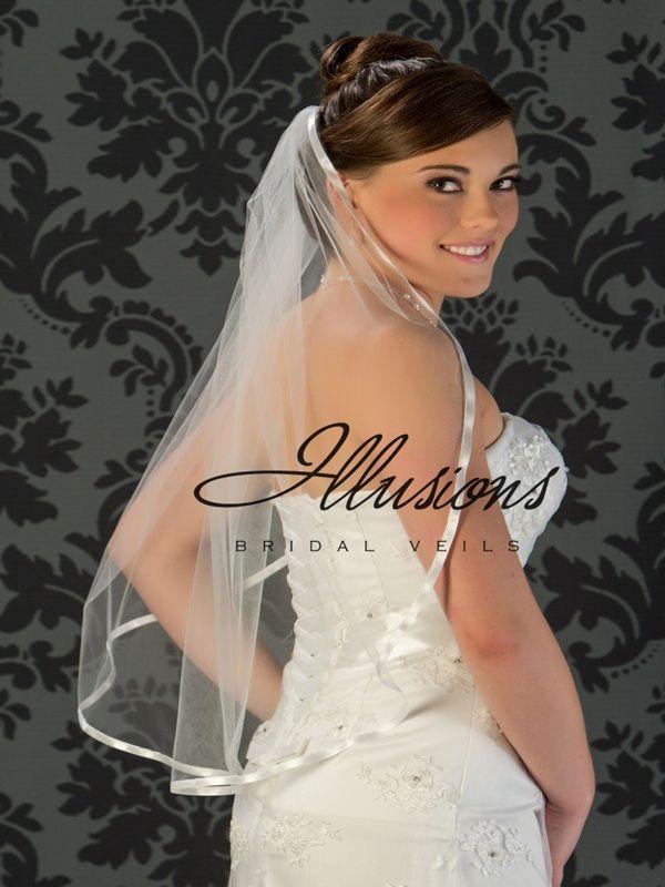 Illusions Bridal Ribbon Edge Veil 5-301-3R