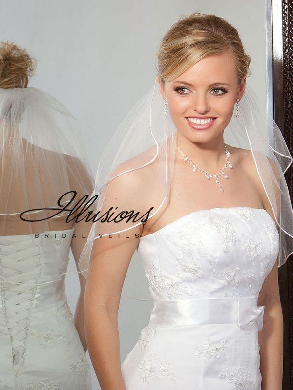 Illusions Bridal Rattail Edge Veil S5-202-RT