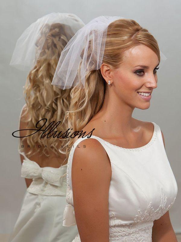 Illusions Bridal Cut Edge Veil 5-101-CT: Rhinestone Accent