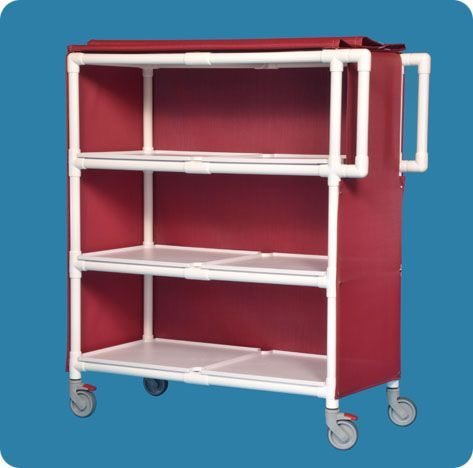 Jumbo Linen Cart - Three Shelves
