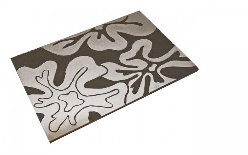 """""""sparkle White"""" Vinyl Eraser Inovart Karve Majik Printing Plate 6"""" X 9"""" - 2 Per Pack"""