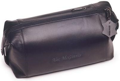 Personalized Travel Bag - Leather Shaving Kit