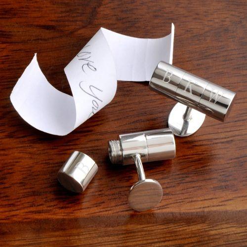 Secret Agent Hidden Note Cufflinks