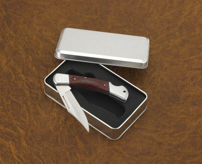 Personalized Yukon Wood Handle Pocket Knife