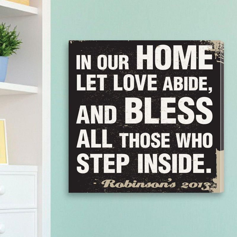 Personalized Antique Style Prayer Canvas Sign