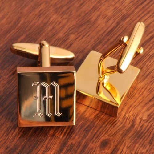 Monogram High Polish Brass Cufflinks