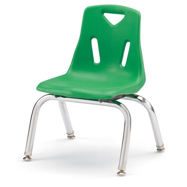 """Berries®Stacking Chairs With Chrome-Plated Legs - 10"""" Ht - Set Of 6 - Teal"""