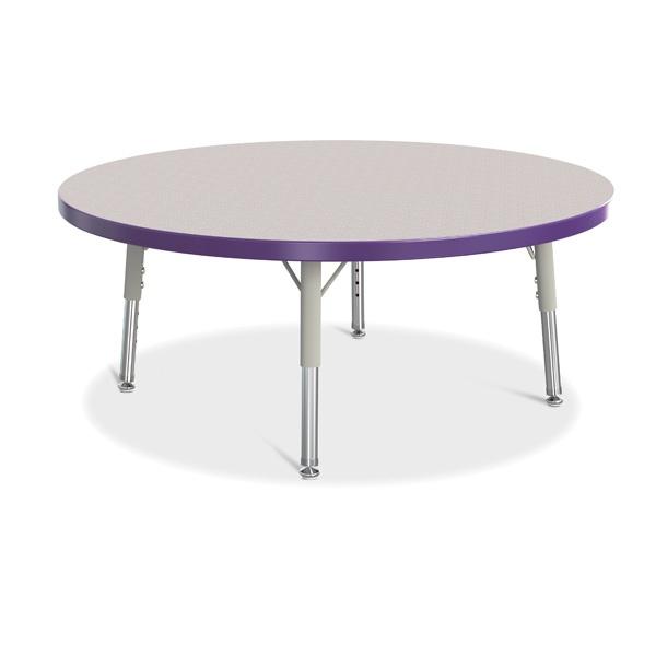 "Berries®Round Activity Table - 36"" Diameter, T-Height - Gray/Purple/Gray"