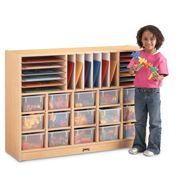 Maplewave®Sectional Cubbie-Tray Mobile Unit - Without Trays