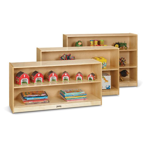 Jonti-Craft®Low Adjustable Mobile Straight-Shelf