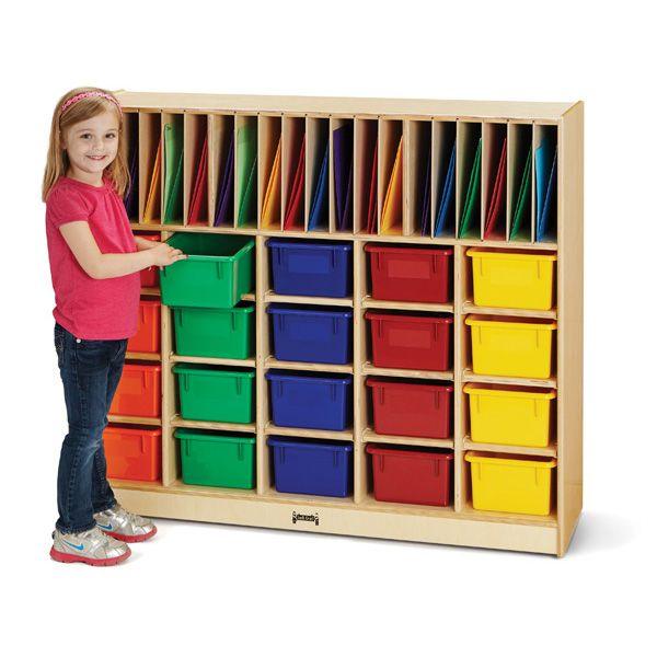 Jonti-Craft® Classroom Organizer - With Colored Cubbie-Tray