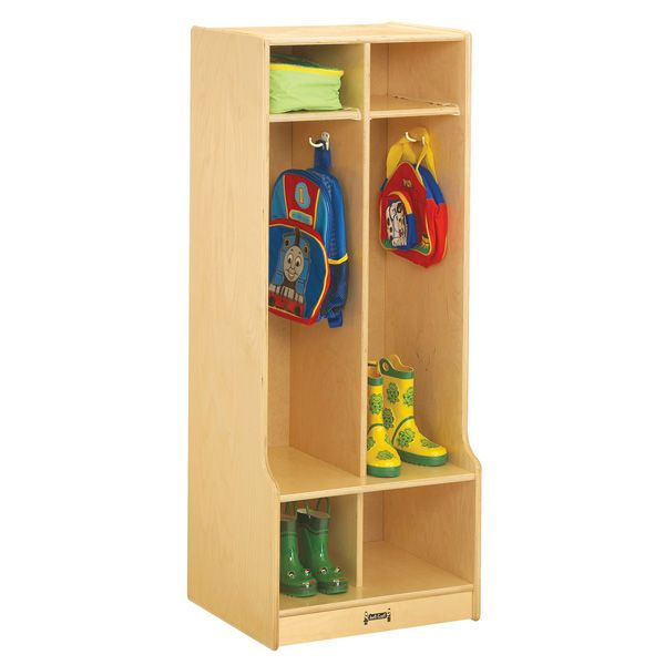 Jonti-Craft® 2 Section Coat Locker With Step